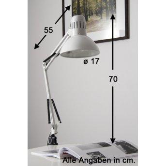 Brilliant Hobby Lámpara de lectura con pinza Blanca, 1 luz