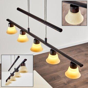 Nellim Lámpara Colgante LED Color óxido, 5 luces
