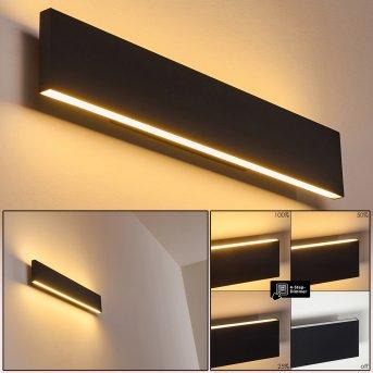 Obion Aplique LED Negro, 2 luces