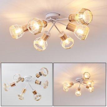 Barbacena Lámpara de Techo Blanca, 6 luces